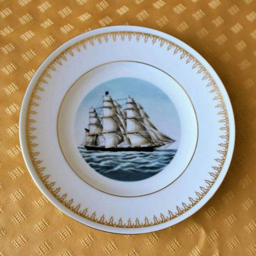 "Decorative Plate, ""Clipper Ships Flying Cloud"", Currier & Ives, Danbury Mint, SOLD"