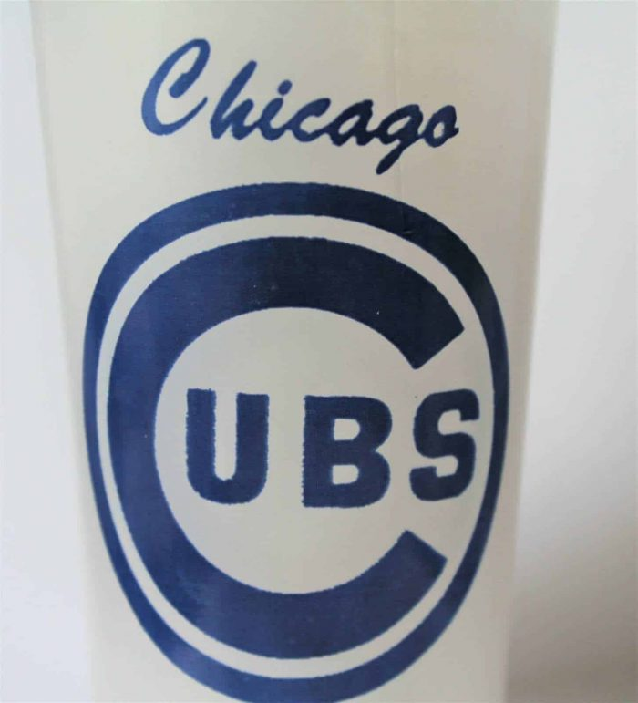 Glass, Chicago Cubs Logo, Frosted Drinking Glass / Tumbler