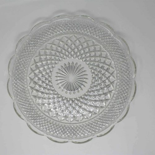 """Serving Platter/Torte Plate, Cupped-Edge """"Wexford"""" by Anchor Hocking 14"""", SOLD"""