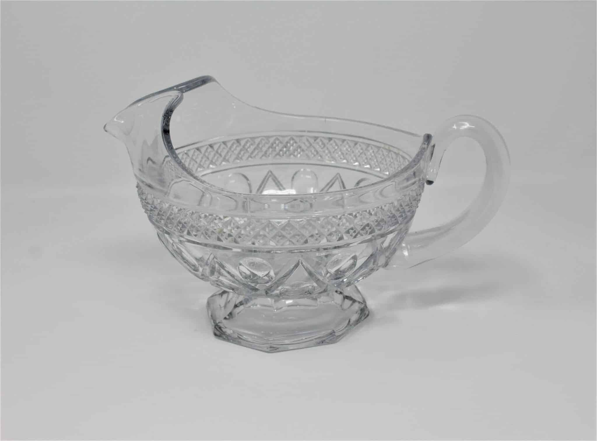 "Gravy Boat Clear Glass, ""Cape Cod"" Pattern by Imperial Glass, SOLD"