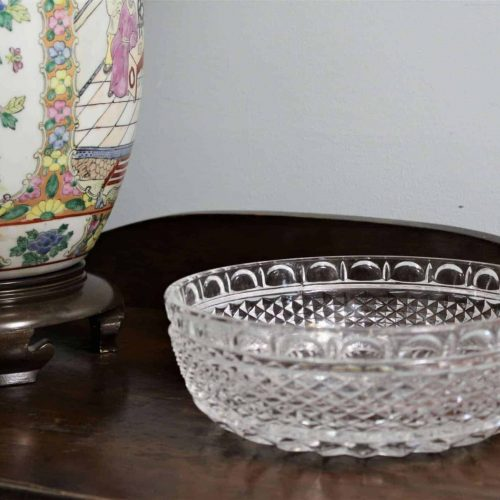 Bowl, Decorative / Serving, Diamond Point Pattern, Glass