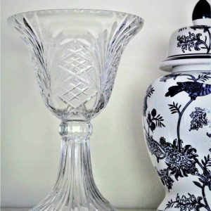 Vase Pedestal/Footed, Crystal by Towle, Czech Republic