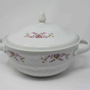 Serving, Soup Tureen/Toureen with Lid by Wtoctawek Poland, Pink Flowers
