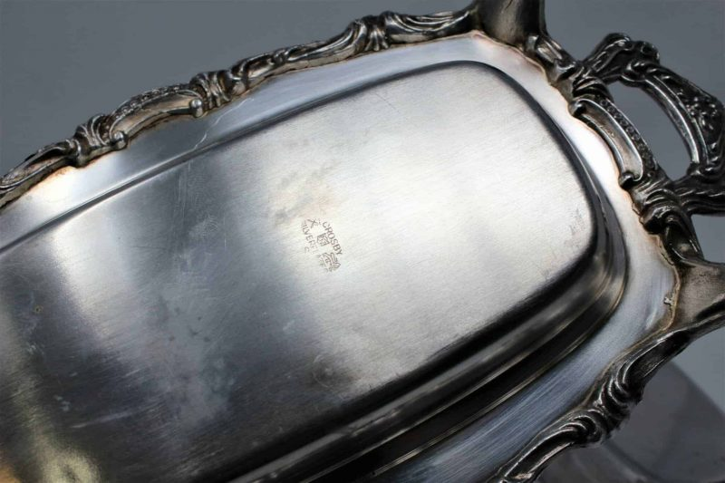 Butter Dish Footed with Lid and Handles, Silver Plate by Crosby, SOLD