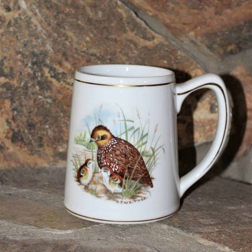 "Mug, Beer Stein, Bobwhite Quail, ""Game Birds of the South"" by Southern Living - Vintage"