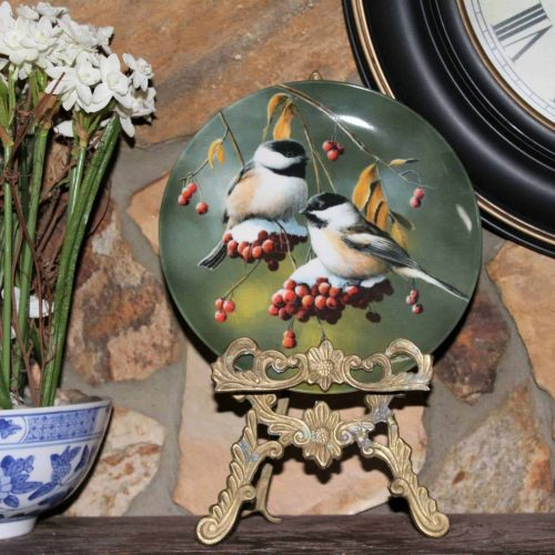 "Decorative Plate, The Chickadee, ""Birds of Your Garden"" Collection, Knowles Boxed"