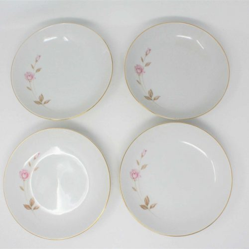 "Bowl, Soup, ""Reverie"" by Style House, Pink Floral, Set of 4"