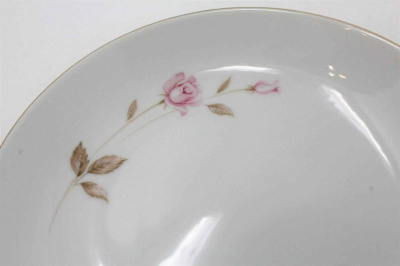 """Bowl, Soup, """"Reverie"""" by Style House, Pink Floral, Set of 4"""