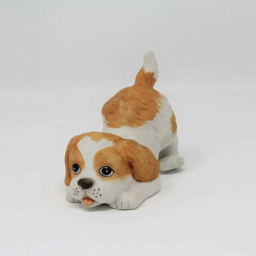 Figurine Puppy Dog #1407, Bisque Porcelain by HomCo Collectible