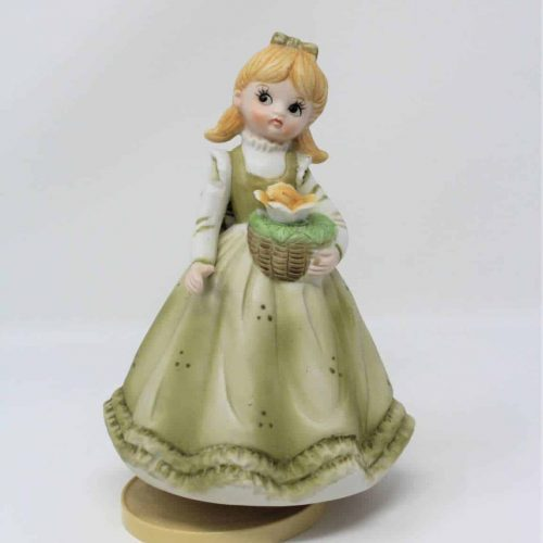 "Figurine, Musical, ""Le Vie en Rose"", Girl in Green Dress- Collectibles, SOLD"