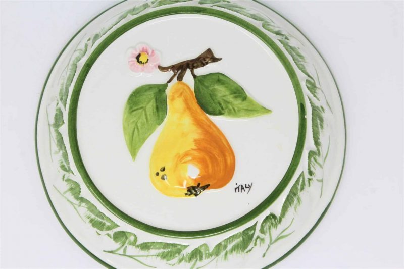 Decorative Mold / Mould, ABC Bassano, Pear, Hand Painted - Italy