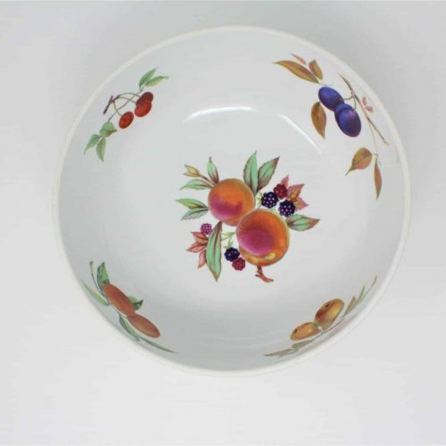 "Serving Bowl / Centerpiece, ""Evesham Gold"" by Royal Worcester 10"", England"