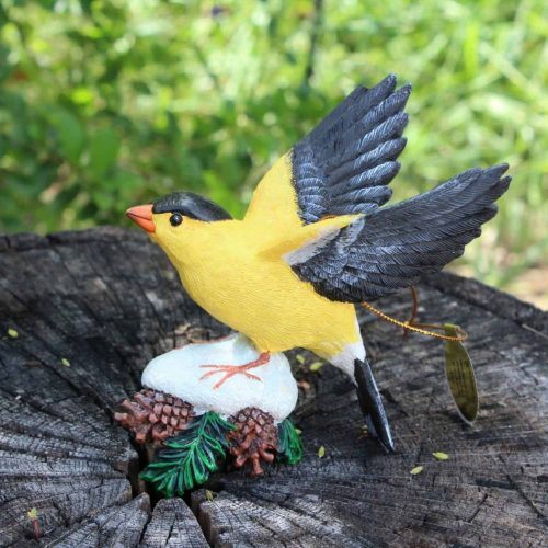 "Ornament Christmas ""Goldfinch"", Danbury Mint Songbird Collection"