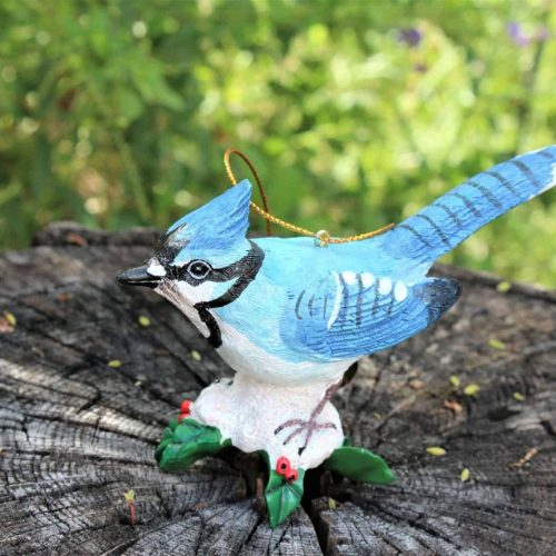 "Ornament Christmas ""Bluejay"", Danbury Mint Songbird Collection"
