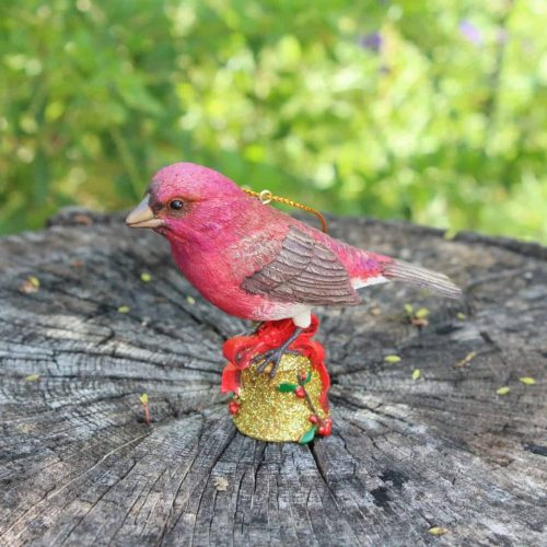 "Ornament Christmas ""Purple Finch"", Danbury Mint Songbird Collection"