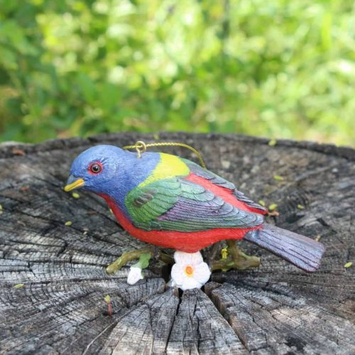 """Ornament Christmas """"Painted Bunting"""", Danbury Mint Songbird Collection"""