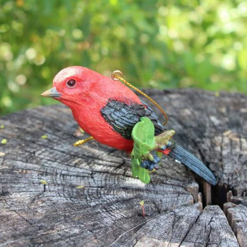 """Ornament Christmas """"Scarlet Tanager"""", Danbury Mint Songbird Collection"""