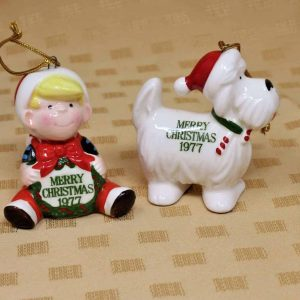 Ornament Christmas Dennis The Menace and Ruff, Porcelain