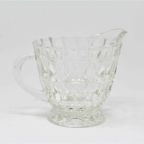 Creamer Footed, Depression Glass, Windsor (Holiday) Diamond, Jeannette Glass