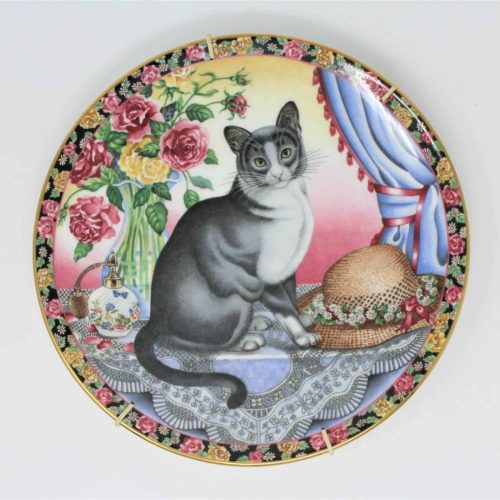 "Decorative Plate ""Cats for All Seasons""- Summer Cat by Aynsley"