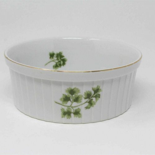"Ovenware, Souffle Dish, ""Parsley"" by Sadek 7932, Japan 6"""