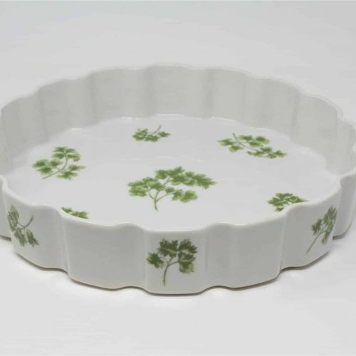 "Ovenware, Quiche/Tart Pan, ""Parsley"" by Sadek 8681, Japan"