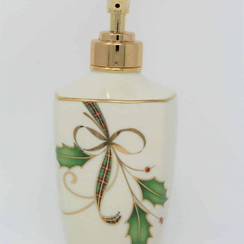 "Soap Pump/Lotion Dispenser, Christmas Lenox ""Holiday Nouveau Gold"", SOLD"