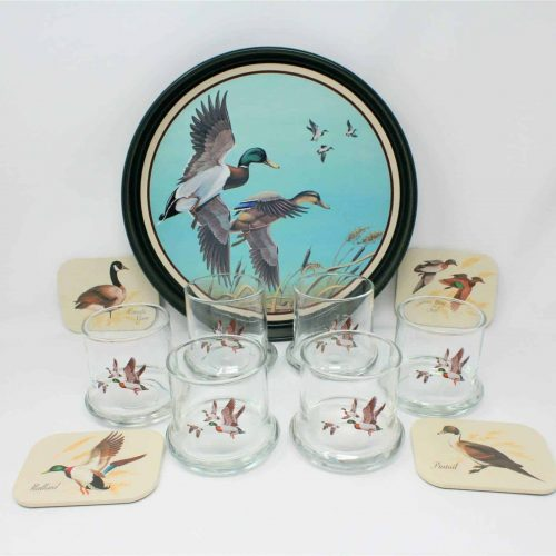 Glasses, Rock/Whiskey, Avon Mallards in Flight Chesapeake Collection 11 Pcs