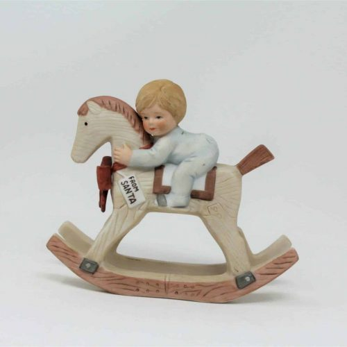"Figurine ""Christmas Rocking Horse"" (Boy),Treasured Memories Collection"
