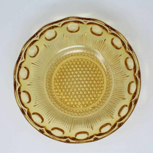 Bowl, Decorative, Manhattan / St. Genevieve by Bartlett Collins, Amber Glass