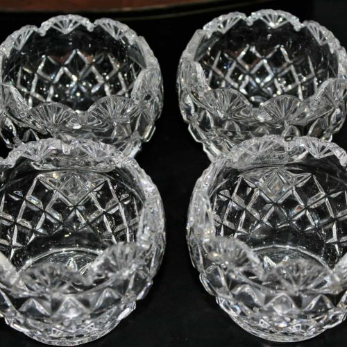 Candle Holders, Royal Irish Crystal Votive or Tealight, Czech Republic - Set of 4