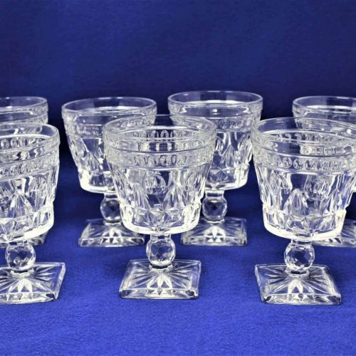 "Glasses Water / Goblet, ""Park Lane"" by Colony Glass, Set of 7"