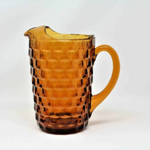 "Pitcher Amber, ""Whitehall 521"" by Colony (Indiana Glass)"