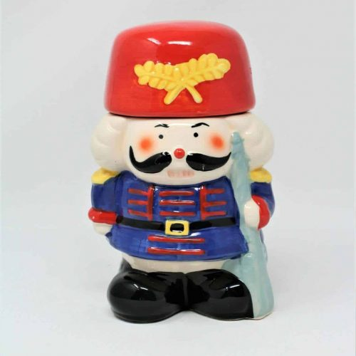 Candy Jar/ Storage Christmas Nutcracker Soldier Ceramic