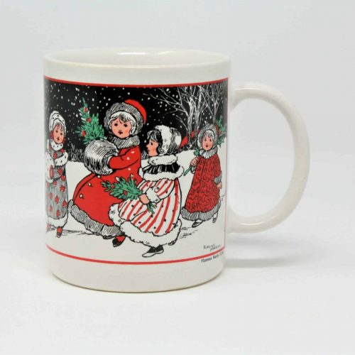 Mug, Christmas, UNICEF Collectible, Florence Hardy Christmas Girls