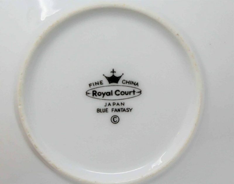 """Candle Holder / Chamberstick, """"Blue Fantasy"""" by Royal Court, Japan"""