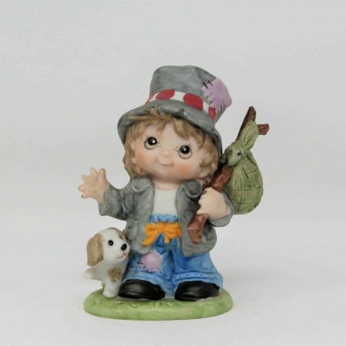 "Figurine, HomCo ""Hobo 1460"" Bisque Porcelain, SOLD"