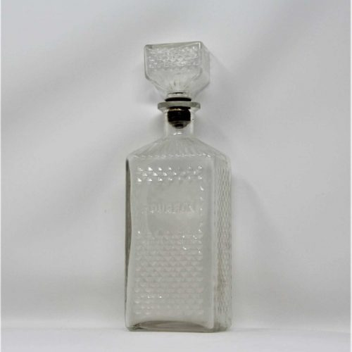 Bottle / Decanter, Embossed Glass Bourbon Decanter