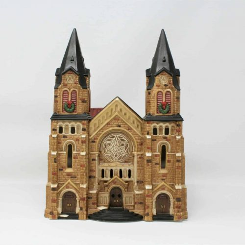 "Heartland Valley Village Christmas ""Cathedral"" Ltd. Edition 1997 Bisque Porcelain"