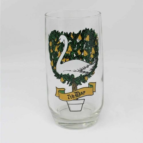 Glass, Tumbler 12 Days of Christmas, 7th Day, Anchor Hocking