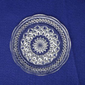 Plates, Bread and Butter/Dessert, Scalloped Edge, Wexford Pattern by Anchor Hocking, Set of 4