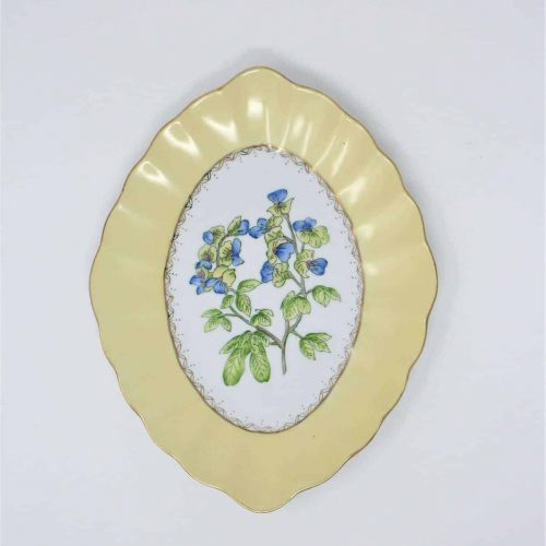 "Decorative Plate, Andrea by Sadek ""English Garden"" - Violas"