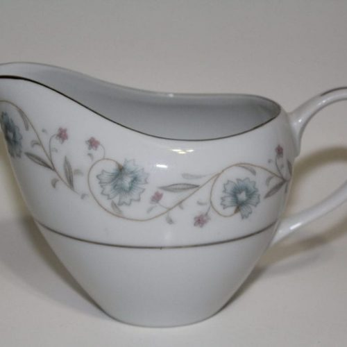 "Creamer, ""English Garden"" Platinum Fine China - Japan"