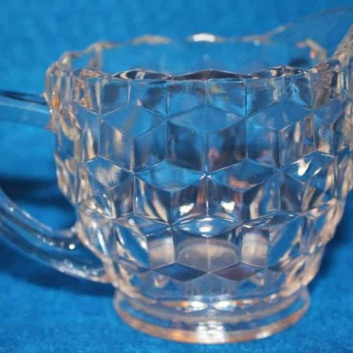 "Creamer and Sugar Bowl , ""American Clear"" by Fostoria, Glass"