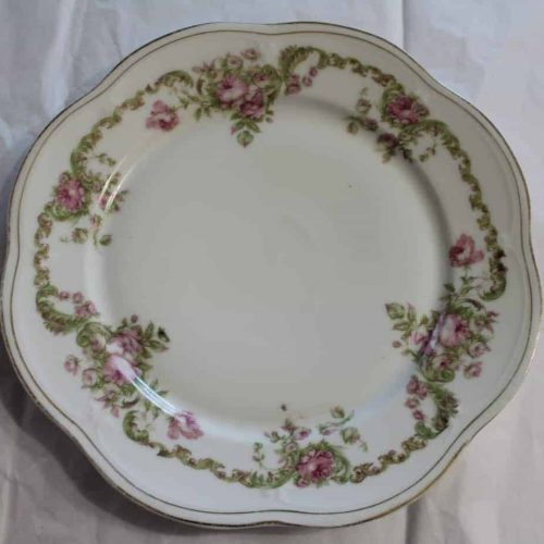 Plate Dinner by Z.S. & C. (Zeh Scherzer) Mignon, Bavaria Germany c1800's