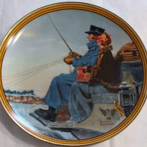 "Decorative Plate: Knowles ""The Journey Home"", Rockwell's Colonials"