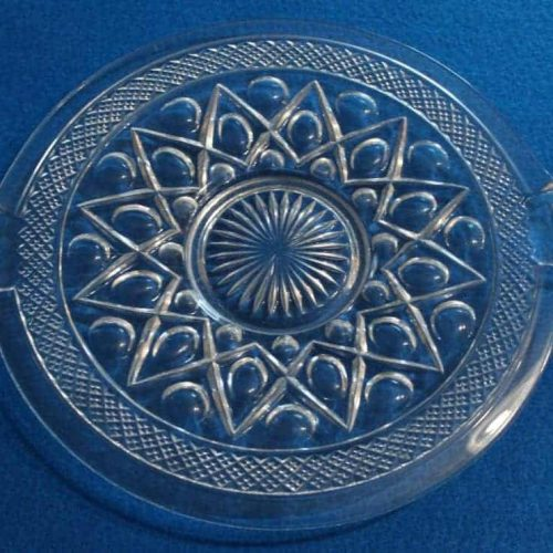 "Tray / Cake Plate ""Cape Cod"" by Imperial Glass"