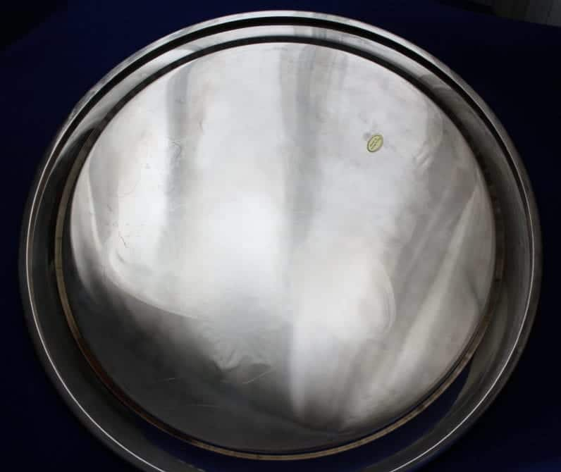 """Tray, Silver Plate by International Silver, Engraved """"Merry Christmas"""""""