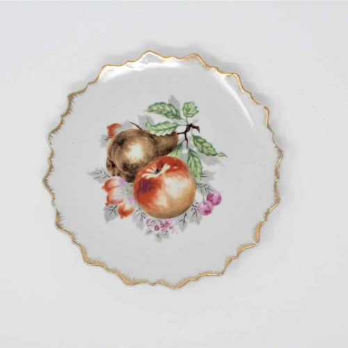 Decorative Plate, Fruit Orchard Plate, 22K Gold, Japan