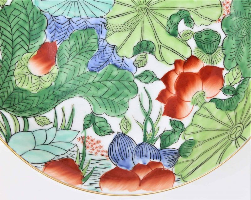 Bowl, Decorative, Lotus / Water Lily Design by Napcoware